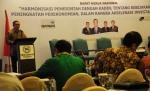 Sekda Banten Muhadi ketika menghadiri acara rapat kerja nasional Kadin dengan pemerintah.