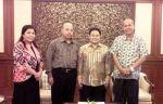 Rektor UNSERA, Dr. H. Hamdan, MM didampingi Kabag. Kerja Sama UNSERA, H. Jubery Marwan, SE., MM, melakukan audiensi dengan Menteri Tenaga Muhaemin Iskandar beberapa waktu lalu.