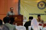 Sekda Banten Muhadi ketika membuka acara Rakerda Baznas ke XI di salah satu hotel di Serang, Senin (25/11).