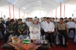 Gubernur Banten Ratu Atut Choosiyah ketika menghadiri acara peringatan 1 Muharam 1435 H tingkat provinsi Banten yang dilangsungkan di lapangan Masjid Raya Al-Bantani Curug Kota Serang, Rabu (6/11).