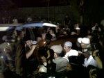 Jenazah Hikmat Tomet ketika sampai di rumah duka di Jl. Bhayangkara nomor 51 Cipocok Jaya Kota Serang, Sabtu (9/11).