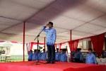 Wakil Gubernur Banten Rano Karno memipin upacar aperingatan 5 hari nasional di lapangan Kawasan pusat pemerintahan provinsi Banten (KP3B) Curug Kota Serang, Selasa (17/12).